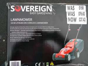 Sovereign Cordless  Lawnmower  £37.43 @ Homebase