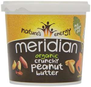 Meridian Organic Crunchy Peanut Butter 1 Kg £4.49 add on item at Amazon