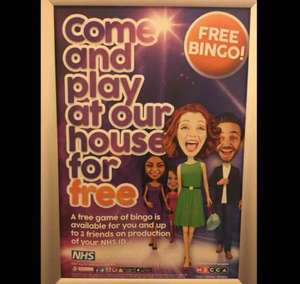 Mecca Bingo - Free game of bingo for NHS card holders & 3 friends