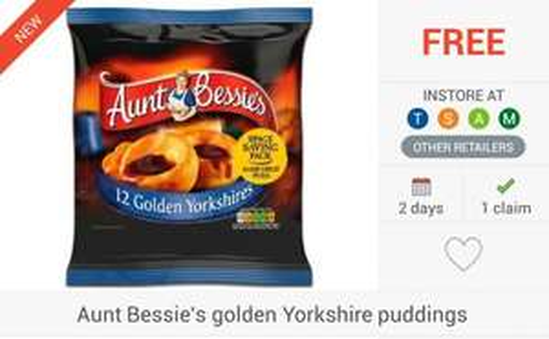 FREEBIE + 50p Profit... 2 x Aunt Bessie's Golden Yorkshires (12) via COS & CS - £1 @ Morrisons / £1.50 @ Asda, Tesco, Sainsbury's & Waitrose...