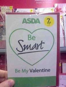 Show the Wife you Love her, Valentine Card only 7p @ Asda.