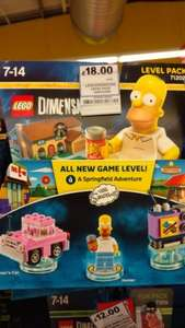 lego dimensions simpsons level pack £18 Instore at Tesco