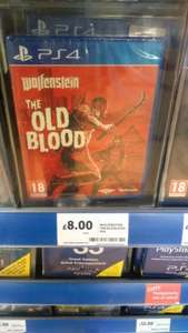 Wolfenstein - The Old Blood (PS4 & XBOX ONE) £8.00 instore @ Tesco