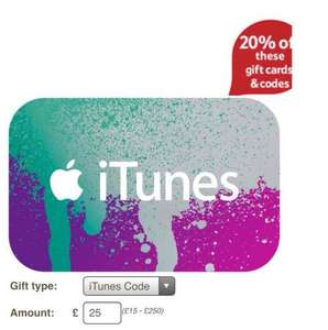 Tesco ITunes cards & codes £5 off of a £25 card/code - 20% off