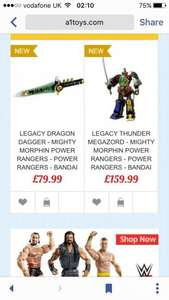Mighty morphin legacy products £79.99 @ A1 Toys