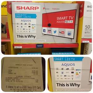 Sharp Aquos lc55cfe6241k 55 inch smart LED tv Bargain £179 Tesco Barnsley in store