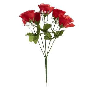Wilko Plastic Flower Posy - to go with your 7p Valentines Card.. £1 + Free store pickup!
