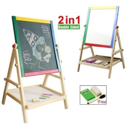 Kid's Double Sided Blackboard / Whiteboard Easel with Extras £11.99 del @ Ebay (sold by daisyonsale)