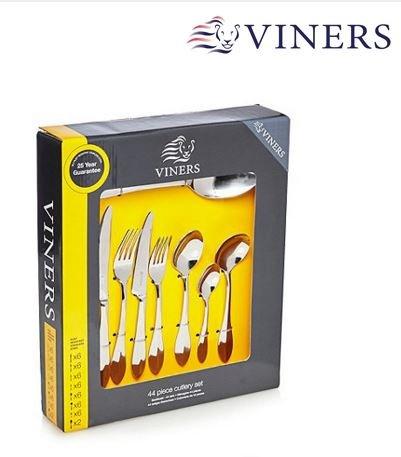 Viners 'Breeze' 44pc cutlery set £36.00 (70% off - Was £120) - Debenhams