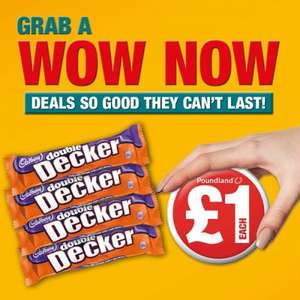 4 x Double decker, Bounty, Crunchie £1 at One Stop