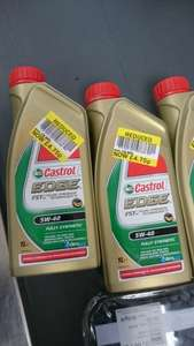Castrol Edge fully synthetic oil 5W 40 £4.75 in Tesco