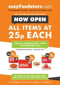 All food is 25p each in February @ Easy Food Store pilot shop in Park Royal, London