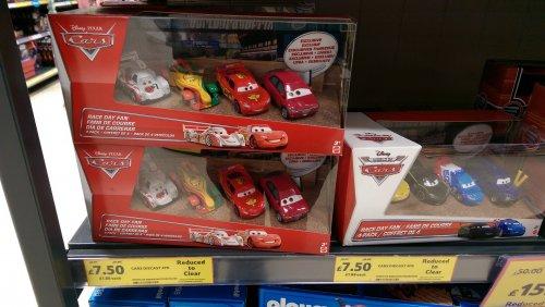 Disney pixar cars, 4pack, £7.50, instore Tesco