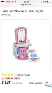 Baby Born Wash Basin Playset £13.99 @ Argos
