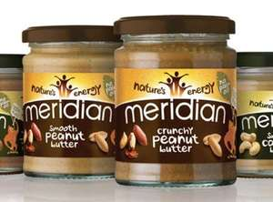 Meridian Natural Smooth / Crunchy Peanut Butter (280g) - was £1.99 now Only 99p @ Tesco...