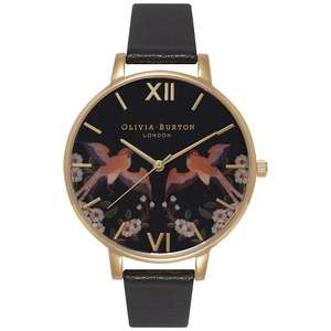 Olivia Burton Big Dial Black Leather Strap Watch £40 at John Lewis