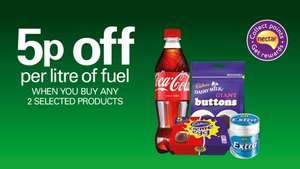5p off per litre of fuel @ BP when you buy 2 qualifying products
