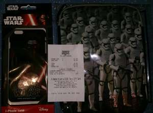 Disney Star Wars iPhone Case (6 Plus Or 6S Plus) & Disney Star Wars ipad Neoprene Zipped Case, From £1.25 @ Tesco St Enoch, Glasgow