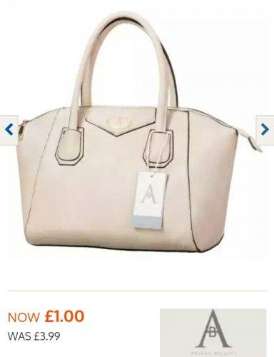 Handbags only £1 - B&M