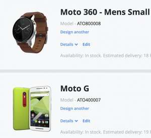 Moto 360 & Moto G 3rd Gen both with Motomaker less £80 discount! £299.98  @ motorola.co.uk