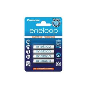 Back in stock: Panasonic Eneloop pre-charged, rechargeable AAA 4 Pack (retain 70% of charge for 5 years & rechargeable 2100 times) £5.59 free delivery 7dayshop (or 8-pack £10.49 also free delivery - see link in original post)