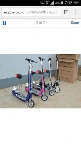 kids electric scooters. £73.99 @ ebay / turbo_revs