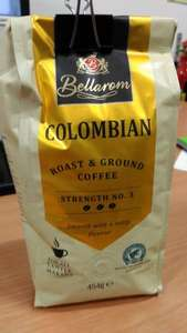 Bellarom  Colombian ground coffee  454g bag £3.49 from Lidl