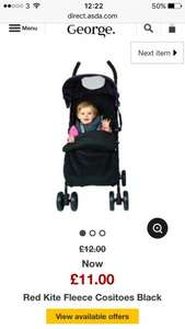Red kite cosy toes black £11 @ asda instore and online