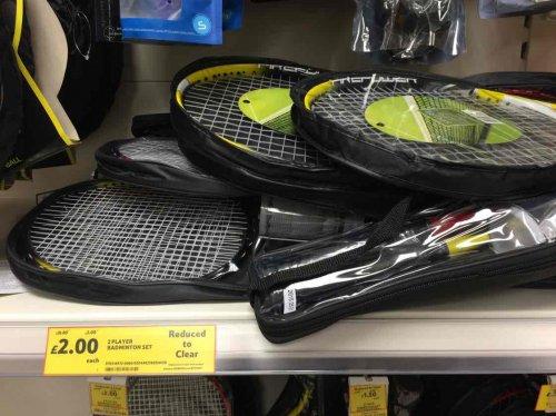 2 Player Badminton Set £2.00 @ Tesco