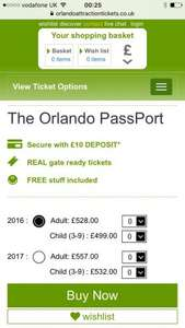 2017 Florida tickets now available best price around for the Orlando passport £557 at Orlando Attraction Tickets