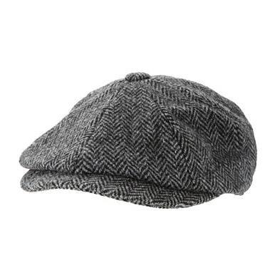 John Rocha Grey herringbone Harris Tweed baker boy cap £15 @ Debenhams