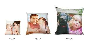 Personalised 18''x18'' photo cushion - half price only £10 @ Boots Photo