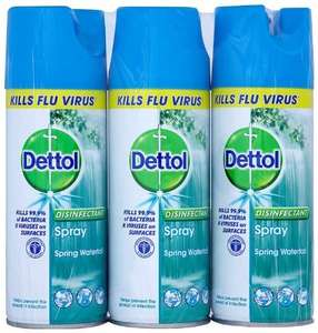 Dettol Disinfectant Spray 400 ml - Spring Waterfall, Pack of 3 £4.47 / £4.20 s&s  at Amazon