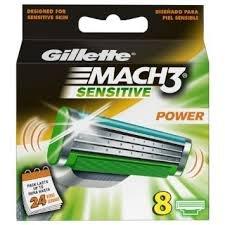 Gillette Mach 3 Sensitive Power Blades - 8 Pack £10 @ Morrison's