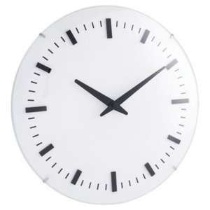 Tesco Domed Glass Raised Wall Clock Dia. 30cm, Cream £3.75 @ Tesco £2 Click & Collect, Also In Store