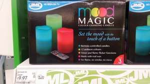 oooooooh led candles! 3 pack. jml remote control colour changing half price £9.99 @ asda in store