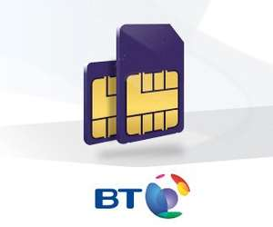 BT Mobile SIMO 20GB Tariff with Unlimited Mins, Texts, and BT Wifi. Save £4 a month (non-BT broadband customers £21 a month) otherwise