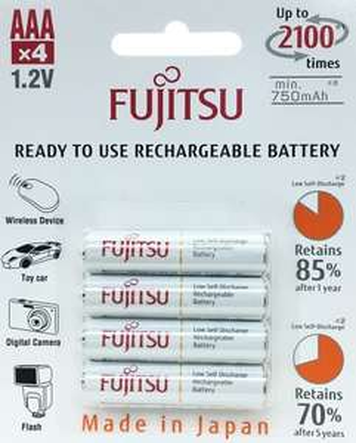 4x Fujitsu Ready to Use (rebranded Eneloop) AA + AAA Batteries from £3.99 @ 7DayShop