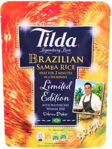 Tilda Basmati Rice (250g) (AllVarieties) was £1.59 half price now 79p @ Tesco