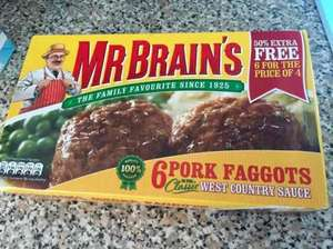 Mr Brains 6 Pork Faggots 99p Farmfoods