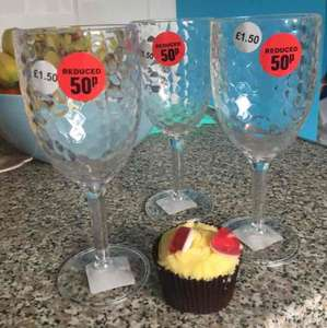 Clear Wine Goblet (child Friendly) was £1.50 now 50p in store @ The original factory shop