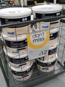 Wilko Contract Emulsion 10 Litres for £12 In store at Wilko
