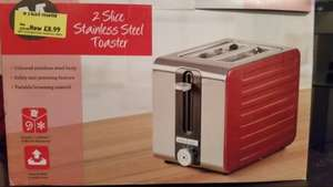 2 Slice toaster was £20 now £8.99 in store Morrisons Aylesbury