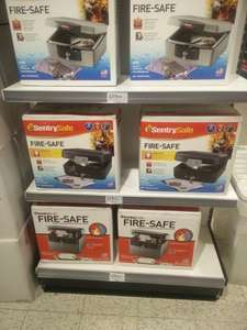 SENTRY FIRE SAFES VARIOUS- £19.99 to £24.99 @ Home Bargains