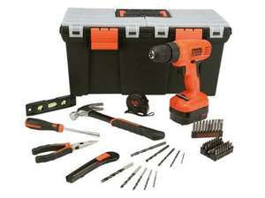 ** Black & Decker 62 Piece Project Kit + 12V Cordless Drill Driver now £19.93 @ Homebase (Free R&C) **
