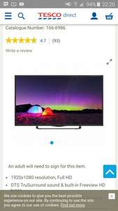 Technika 40F22B-FHD 40 Inch Full HD 1080p Slim LED TV with Freeview HD £189 @ Tesco Chadderton