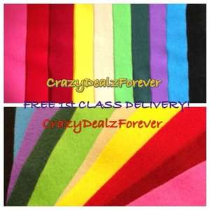 Pack 15 X A4 Felt Sheets in mixed colours £3.19 del @ Ebay (Crazy Dealz Forever)