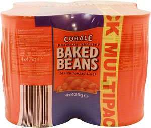 Aldi premium Corale Baked Beans In Tomato Sauce 4x425g now £0.99