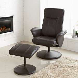 Recliner chair and footstool £69.99 b&m