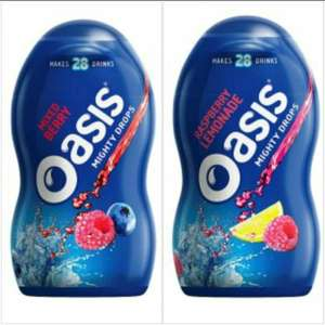 B&M Oasis Mighty Drops Mixed Berry Squash £1.00